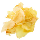 I chip del Durian fritti fanno un spuntino la frutta, isolat croccante dei chip della frutta del Durian fotografia stock