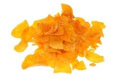I chip della paprica hanno isolato Fotografia Stock