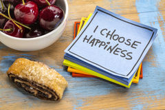 I choose happiness positive affirmation stock photography