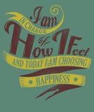 I choose happiness royalty free illustration