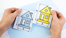 I choose the house Stock Photo