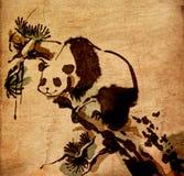 I cinesi del panda spazzolano la pittura Immagini Stock Libere da Diritti