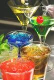 I cocktail variopinti si chiudono su Fotografie Stock
