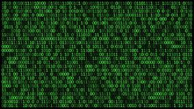 I codici binari 0 e 1 sullo schermo, cambiamento veloce concetto di sicurezza cyber stock footage