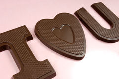 I coeur vous sucrerie de chocolat Photographie stock