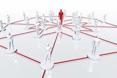 I collegamenti di rete 3D rendono Fotografie Stock