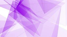 I collegamenti PORPORA astratti della rete del poligon si appannano il video variopinto di nuovo di qualità del fondo di animazio stock footage