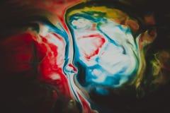 I colori astratti si sono mescolati insieme fotografia stock