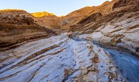 I colori del canyon del mosaico al parco nazionale di Death Valley Fotografia Stock Libera da Diritti