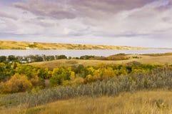 I colori di autunno in Buffalo martellano il parco provinciale immagini stock