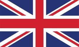 I colori e la proporzione ufficiali della bandiera dell'Inghilterra vector correttamente l'illustrazione Fotografia Stock