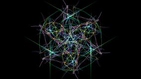 I colori luminosi delle linee su fondo nero fotografia stock libera da diritti