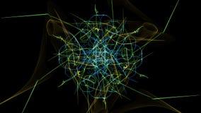 I colori luminosi delle linee su fondo nero illustrazione vettoriale