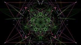 I colori luminosi delle linee su fondo nero royalty illustrazione gratis