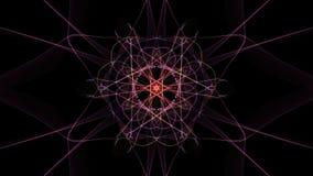 I colori luminosi delle linee su fondo nero illustrazione di stock