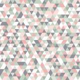 I colori pastelli geometrici del modello di mosaico dentellano il triangolo di verde di bianco grigio royalty illustrazione gratis