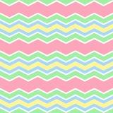 I colori pastelli zigzagano modello senza cuciture Fotografia Stock