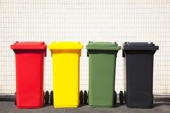 I colori riciclano gli scomparti sulla via Fotografie Stock Libere da Diritti