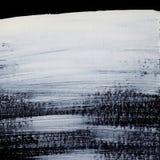 I colpi bianchi dinamici della spazzola sullo zen nero del fondo disegnano il fondo e la struttura Fotografie Stock Libere da Diritti