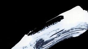 I colpi bianchi dinamici della spazzola sullo zen nero del fondo disegnano il fondo e la struttura Immagine Stock Libera da Diritti