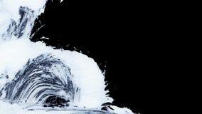 I colpi bianchi dinamici della spazzola sullo zen nero del fondo disegnano il fondo e la struttura Immagini Stock Libere da Diritti