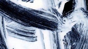 I colpi bianchi dinamici della spazzola sullo zen nero del fondo disegnano il fondo e la struttura Fotografia Stock Libera da Diritti