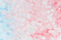 I colpi quadrati strutturano in olio con i colori rosa e blu-chiaro pastelli Vista superiore per il fondo dell'insegna fotografia stock libera da diritti