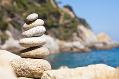 I come back to spain. Six pebbles for coming back to spain Royalty Free Stock Photo