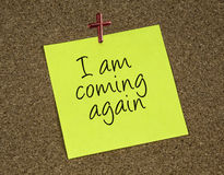 I am coming again Stock Image