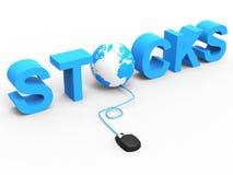 I commerci delle azione rappresenta il World Wide Web ed hanno comprato royalty illustrazione gratis