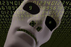 A.I. concept with robot face 0881 royalty free stock photos