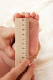 I concetti di affari cominciano su Piedi del neonato in mani della madre Immagine Stock