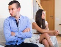 I coniugi che hanno Male discutono Immagini Stock