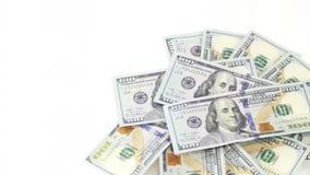 I contanti di spiegamento, dollari di filatura archivi video