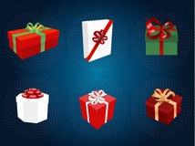 I contenitori di regalo hanno impostato Fotografia Stock Libera da Diritti