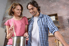 I cook for young with love Royalty Free Stock Images