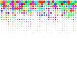 I coriandoli colourful su un fondo bianco illustrazione vettoriale
