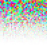 I coriandoli colourful su un fondo bianco illustrazione di stock