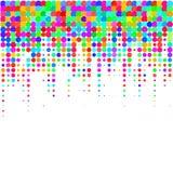 I coriandoli colourful su un fondo bianco royalty illustrazione gratis
