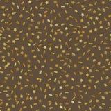 I coriandoli senza cuciture della stella d'oro piovono l'effetto festivo del modello Stelle dorate del volume che cadono isolato  illustrazione vettoriale
