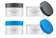 I cosmetici imbottigliano Vecto d'imballaggio Immagine Stock Libera da Diritti