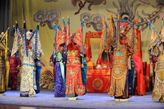 I costumi magnifici di opera di Pechino Fotografie Stock Libere da Diritti