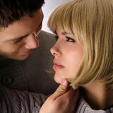I could kiss you right now. Attractive couple passionately in love looking into each others eye Stock Photos