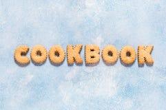 I cracker hanno sistemato come libro di cucina di parola immagine stock