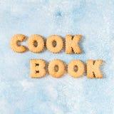 I cracker hanno sistemato come libro di cucina di parola fotografia stock