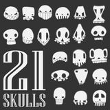 I crani Vector l'insieme Fotografie Stock