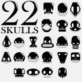 I crani Vector l'insieme Immagine Stock Libera da Diritti
