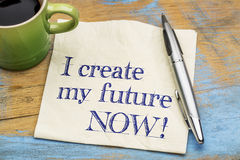 I create my future now - napkin Stock Photography