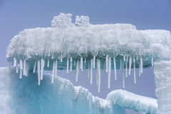 I cristalli di ghiaccio Fotografie Stock Libere da Diritti