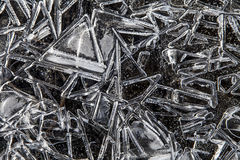 I cristalli di ghiaccio si chiudono in su Fotografia Stock Libera da Diritti